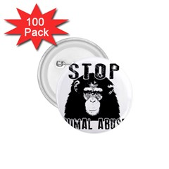 Stop Animal Abuse   Chimpanzee  1 75  Buttons (100 Pack)  by Valentinaart