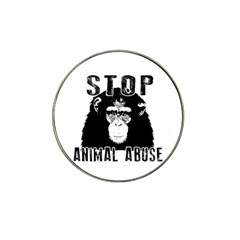 Stop Animal Abuse   Chimpanzee  Hat Clip Ball Marker (4 Pack) by Valentinaart