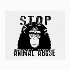 Stop Animal Abuse   Chimpanzee  Small Glasses Cloth by Valentinaart
