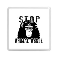 Stop Animal Abuse   Chimpanzee  Memory Card Reader (square)  by Valentinaart