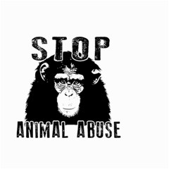 Stop Animal Abuse   Chimpanzee  Small Garden Flag (two Sides) by Valentinaart