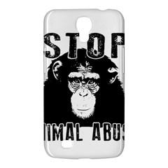Stop Animal Abuse   Chimpanzee  Samsung Galaxy Mega 6 3  I9200 Hardshell Case by Valentinaart