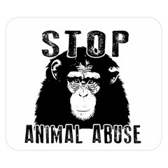 Stop Animal Abuse   Chimpanzee  Double Sided Flano Blanket (small)  by Valentinaart