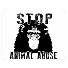 Stop Animal Abuse   Chimpanzee  Double Sided Flano Blanket (medium)  by Valentinaart