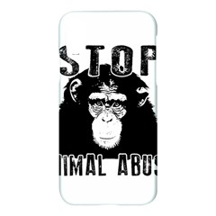 Stop Animal Abuse   Chimpanzee  Apple Iphone X Hardshell Case by Valentinaart
