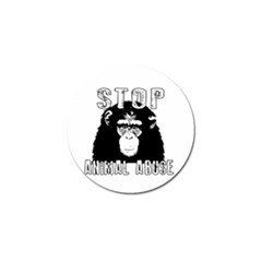 Stop Animal Abuse   Chimpanzee  Golf Ball Marker (4 Pack)