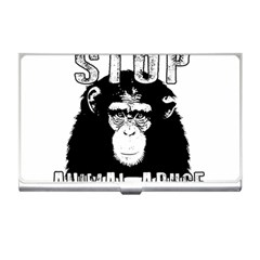 Stop Animal Abuse   Chimpanzee  Business Card Holders by Valentinaart