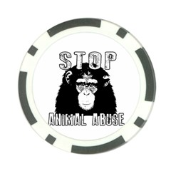 Stop Animal Abuse   Chimpanzee  Poker Chip Card Guard (10 Pack) by Valentinaart