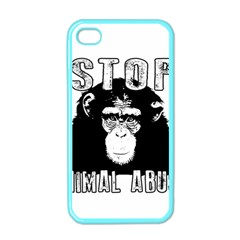 Stop Animal Abuse   Chimpanzee  Apple Iphone 4 Case (color) by Valentinaart