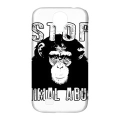 Stop Animal Abuse   Chimpanzee  Samsung Galaxy S4 Classic Hardshell Case (pc+silicone) by Valentinaart