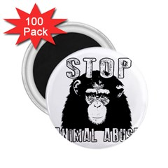 Stop Animal Abuse   Chimpanzee  2 25  Magnets (100 Pack)  by Valentinaart