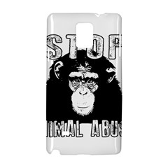 Stop Animal Abuse   Chimpanzee  Samsung Galaxy Note 4 Hardshell Case by Valentinaart