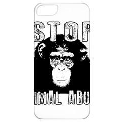 Stop Animal Abuse   Chimpanzee  Apple Iphone 5 Classic Hardshell Case by Valentinaart