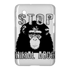 Stop Animal Abuse   Chimpanzee  Samsung Galaxy Tab 2 (7 ) P3100 Hardshell Case  by Valentinaart