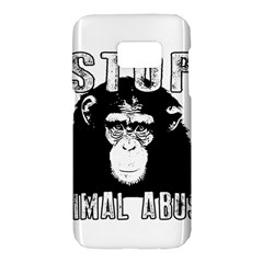 Stop Animal Abuse   Chimpanzee  Samsung Galaxy S7 Hardshell Case  by Valentinaart