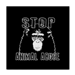 Stop Animal Abuse   Chimpanzee  Tile Coasters by Valentinaart
