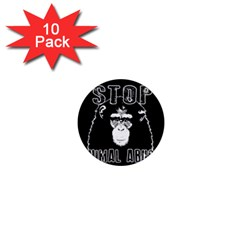 Stop Animal Abuse   Chimpanzee  1  Mini Magnet (10 Pack)  by Valentinaart