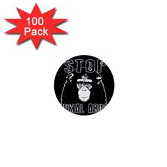 Stop Animal Abuse   Chimpanzee  1  Mini Buttons (100 Pack)  by Valentinaart