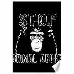 Stop Animal Abuse   Chimpanzee  Canvas 20  X 30   by Valentinaart