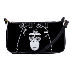 Stop Animal Abuse   Chimpanzee  Shoulder Clutch Bags by Valentinaart