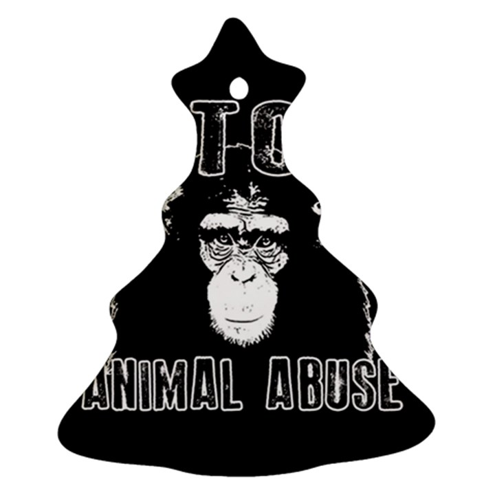 Stop Animal Abuse - Chimpanzee  Ornament (Christmas Tree)
