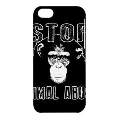 Stop Animal Abuse   Chimpanzee  Apple Iphone 5c Hardshell Case by Valentinaart