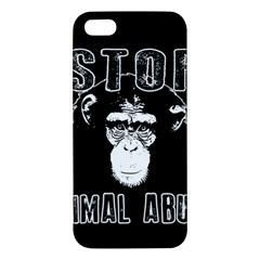 Stop Animal Abuse   Chimpanzee  Iphone 5s/ Se Premium Hardshell Case by Valentinaart
