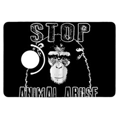 Stop Animal Abuse   Chimpanzee  Kindle Fire Hdx Flip 360 Case by Valentinaart