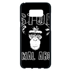Stop Animal Abuse   Chimpanzee  Samsung Galaxy S8 Plus Black Seamless Case by Valentinaart
