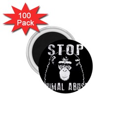 Stop Animal Abuse   Chimpanzee  1 75  Magnets (100 Pack)  by Valentinaart