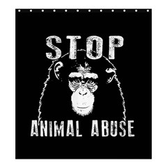 Stop Animal Abuse   Chimpanzee  Shower Curtain 66  X 72  (large)  by Valentinaart