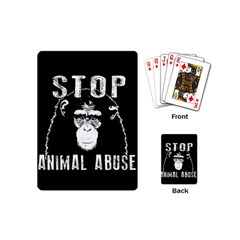Stop Animal Abuse   Chimpanzee  Playing Cards (mini)