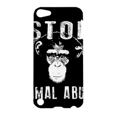 Stop Animal Abuse   Chimpanzee  Apple Ipod Touch 5 Hardshell Case by Valentinaart