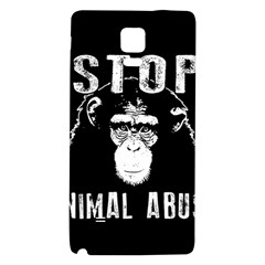 Stop Animal Abuse   Chimpanzee  Galaxy Note 4 Back Case by Valentinaart
