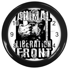 Animal Liberation Front   Chimpanzee  Wall Clocks (black) by Valentinaart