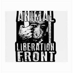 Animal Liberation Front   Chimpanzee  Small Glasses Cloth (2 Side) by Valentinaart