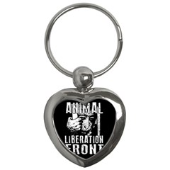 Animal Liberation Front   Chimpanzee  Key Chains (heart)  by Valentinaart