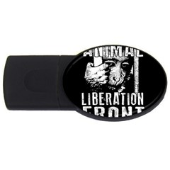 Animal Liberation Front   Chimpanzee  Usb Flash Drive Oval (2 Gb) by Valentinaart