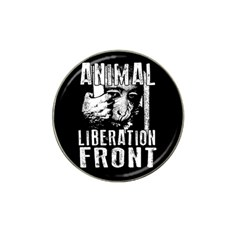 Animal Liberation Front   Chimpanzee  Hat Clip Ball Marker (4 Pack) by Valentinaart