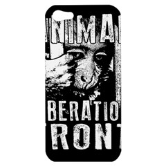 Animal Liberation Front   Chimpanzee  Apple Iphone 5 Hardshell Case by Valentinaart
