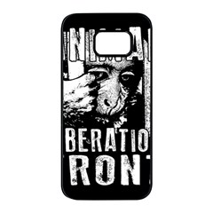Animal Liberation Front   Chimpanzee  Samsung Galaxy S7 Edge Black Seamless Case by Valentinaart