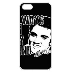 Elvis Presley Apple Iphone 5 Seamless Case (white)
