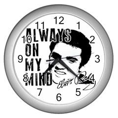 Elvis Presley Wall Clocks (silver)