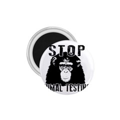 Stop Animal Testing   Chimpanzee  1 75  Magnets by Valentinaart