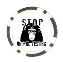 Stop Animal Testing   Chimpanzee  Poker Chip Card Guard (10 Pack) by Valentinaart