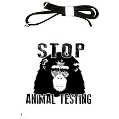 Stop Animal Testing   Chimpanzee  Shoulder Sling Bags by Valentinaart
