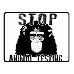 Stop Animal Testing   Chimpanzee  Fleece Blanket (small) by Valentinaart