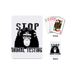 Stop Animal Testing   Chimpanzee  Playing Cards (mini)  by Valentinaart