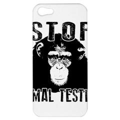Stop Animal Testing   Chimpanzee  Apple Iphone 5 Hardshell Case by Valentinaart