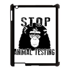 Stop Animal Testing   Chimpanzee  Apple Ipad 3/4 Case (black) by Valentinaart